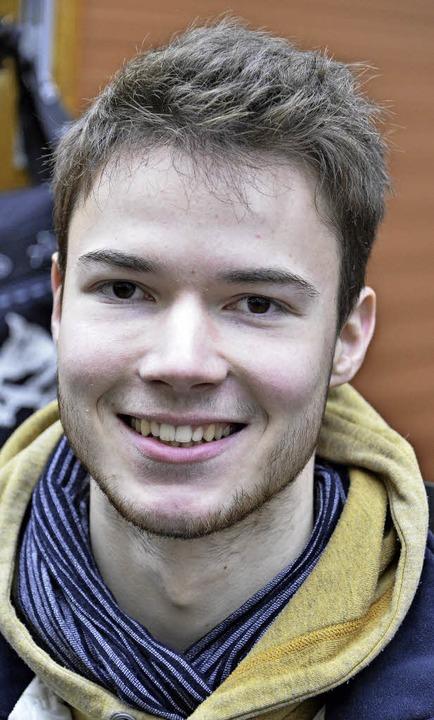 <BZ-Keyword>Julian Kuhlemann (18)</BZ-...iburger Markt nichts passieren.&#8220;    Foto: Michael Bamberger