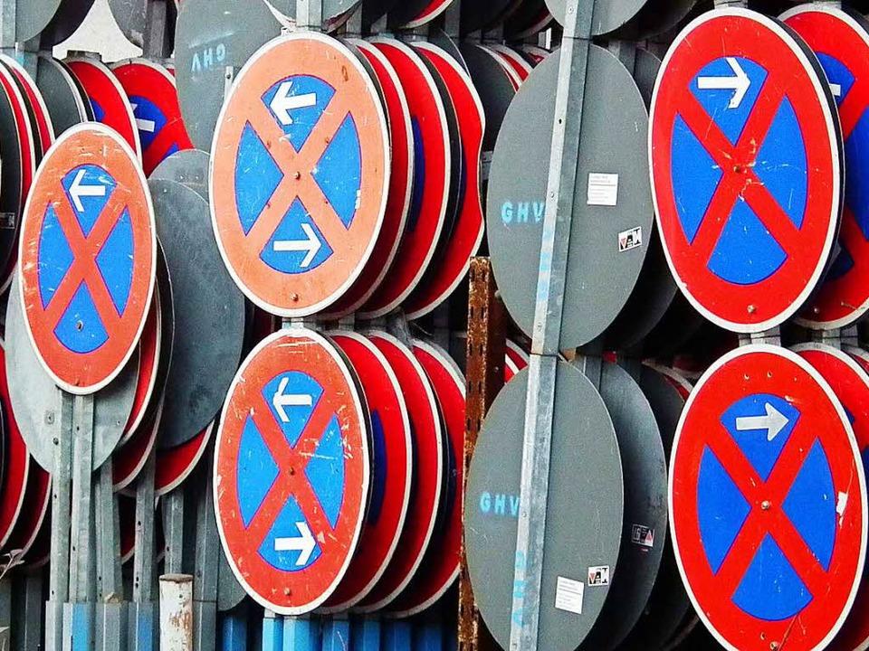 Wer am Wochenende Parkverbotschilder i...sachtete, bekam eine nette Verwarnung.    Foto: WikiMedia/dpp