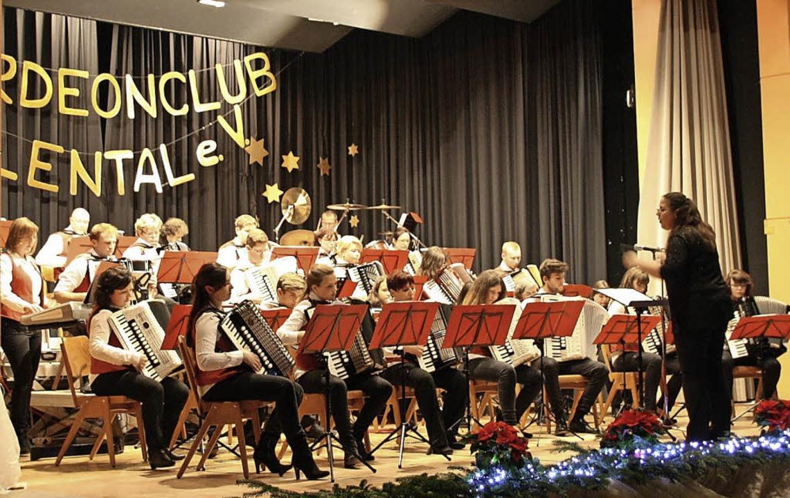 Das Orchester des Akkordeonclubs Höllental unter Leitung von Katharina Steiert.   | Foto: Privat