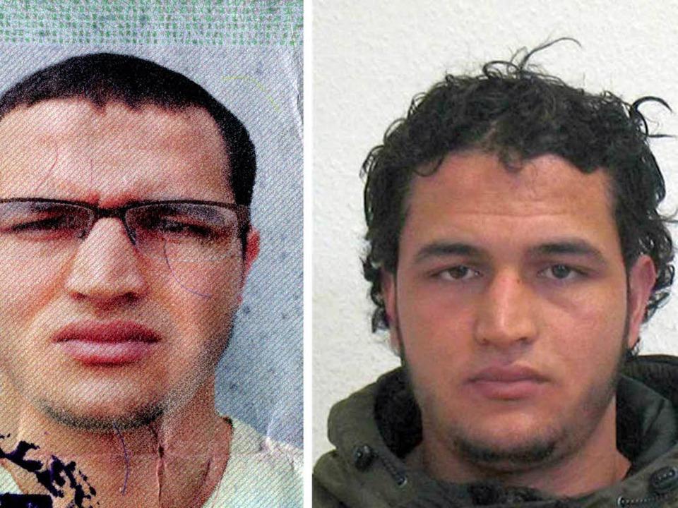 Die Bildkombo zeigt die am 21.12.2016 ...ch tunesischen Verdächtigen Anis Amri.  | Foto: dpa