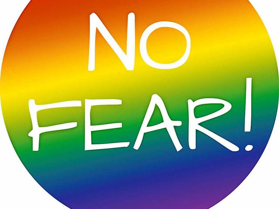 Ein Zeichen gegen die Angst will der F...Wähler Johannes Gröger selbst beklebt.  | Foto: Privat