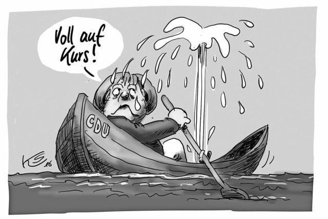 Die Jahres-Sammelbände der BZ-Karikaturisten Horst Haitzinger und Klaus Stuttmann