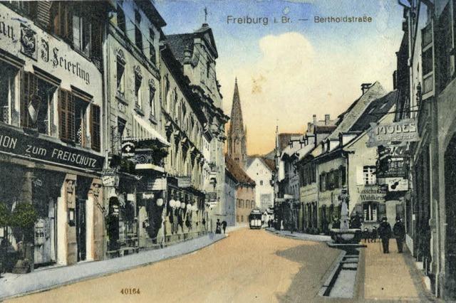 """In der Bertoldstraße 25 war eins die Wirtschaft """"Zum Freischütz"""""""