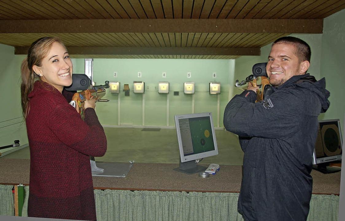 Zwar nicht ganz vorne, aber mit viel F...Dreikönigsschießen in Oberschopfheim.     Foto: Barbara Röderer