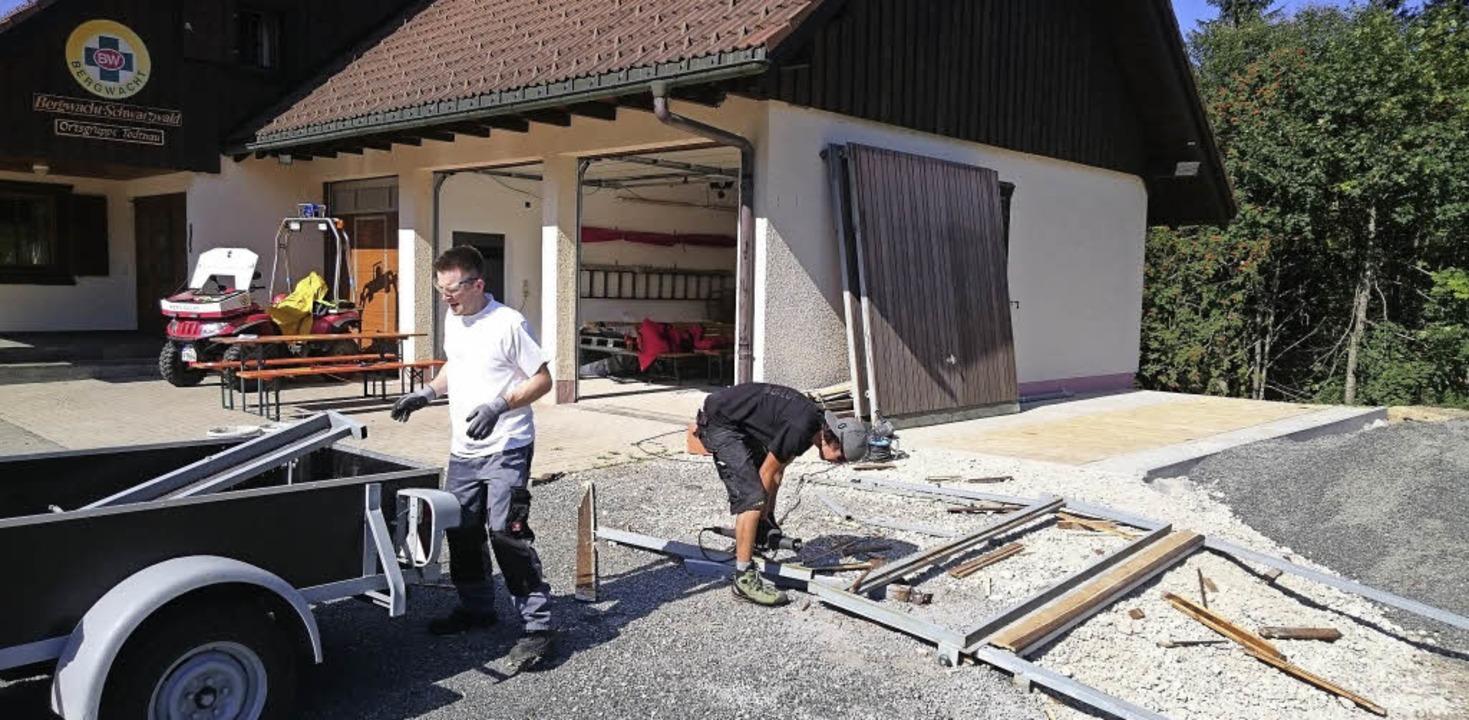 Die Umbauarbeiten an der Bergrettungsw... der Ortsgruppe Todtnau aufgebraucht.   | Foto: Privat