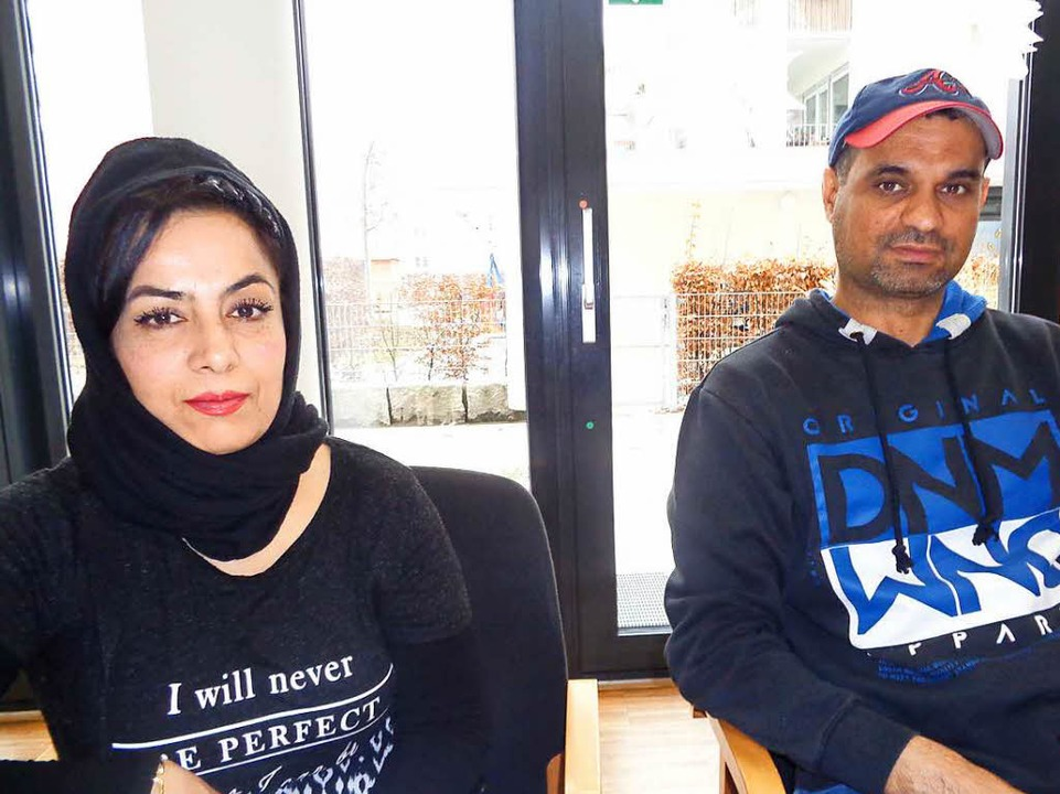 Lida aus Afghanistan und  Sami aus dem Irak.    Foto: Annemarie Rösch