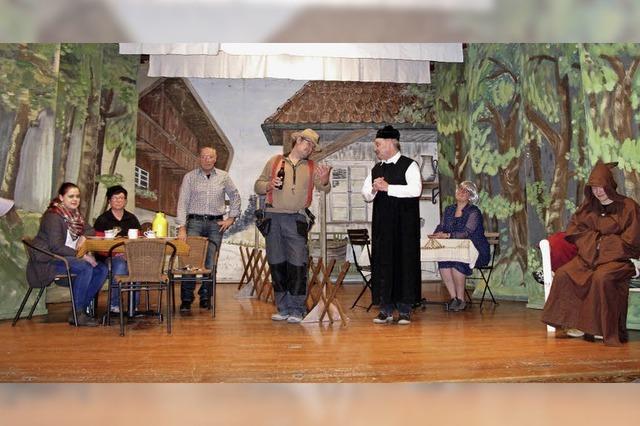 Theatergruppe Bamlach spielt den Dreiakter Wunder, Zoff und Zunder in Bamlach