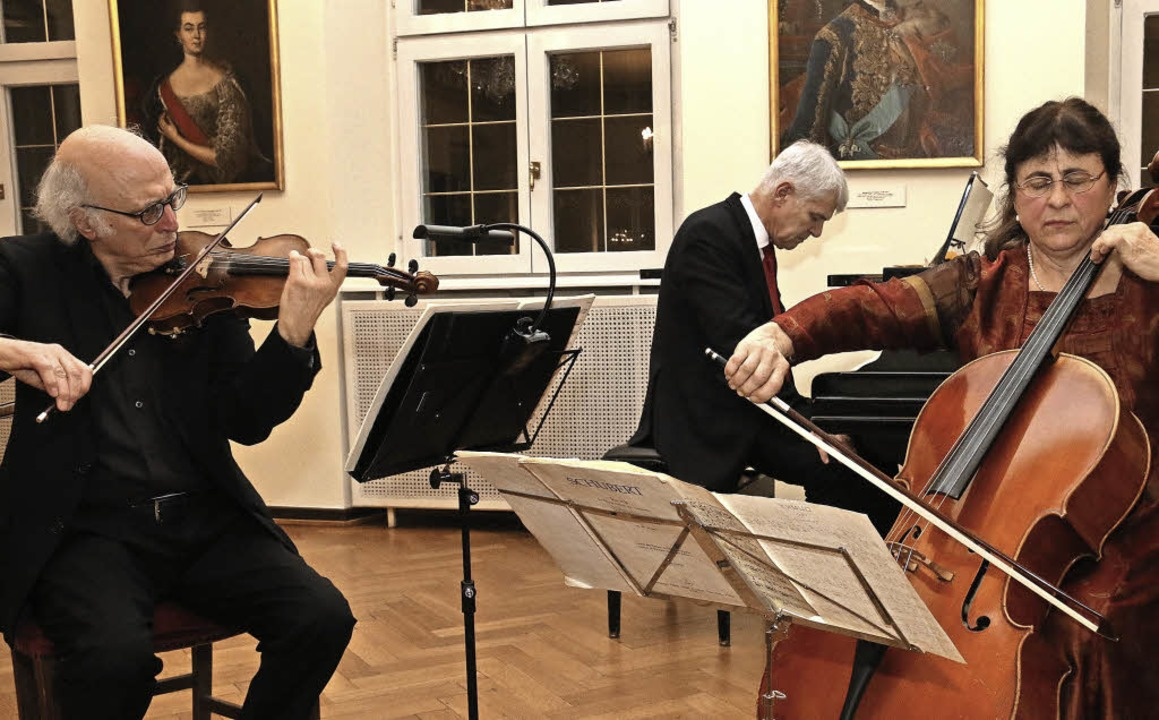 Antonio Pellegrini (Violine),  Sanja U...en Werke von  Schubert   und  Dvorak.   | Foto: Dagmar Barber