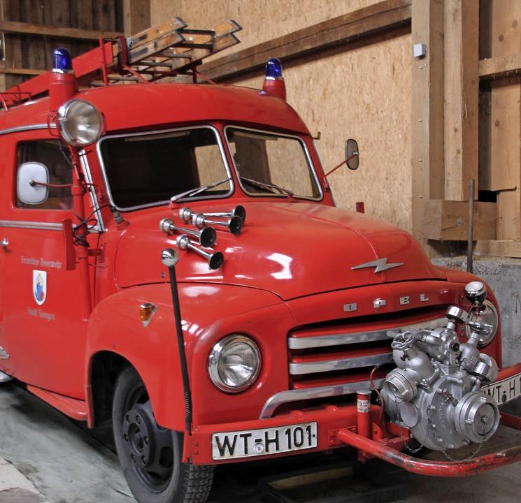 Der Blitz: Das Löschfahrzeug LF 8 TS i...er-Jahre der Feuerwehr Tiengen diente.    Foto: David Rutschmann