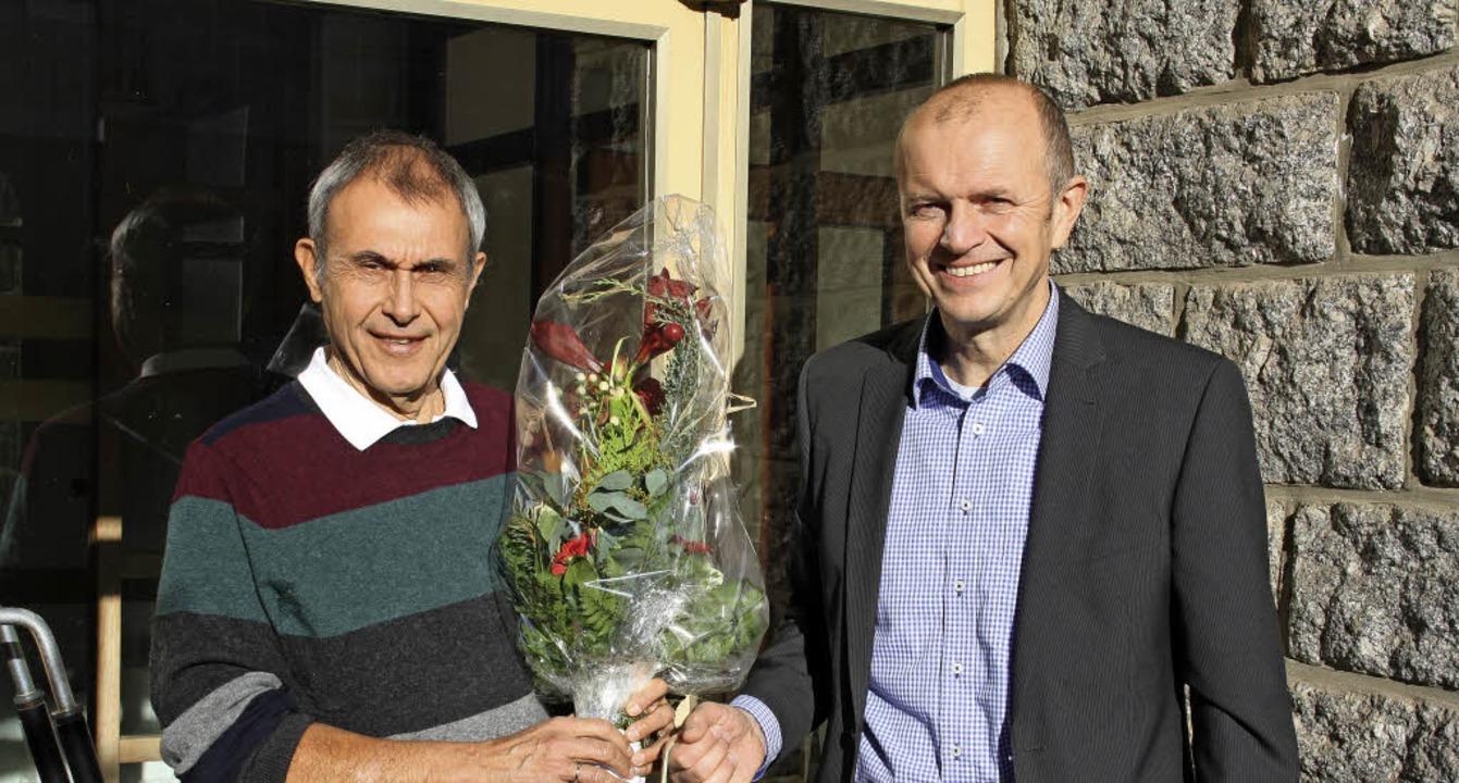 Rolf Joist (links) wurde vom Rickenbac...nick in den Ruhestand verabschiedet.      Foto: Andreas Böhm