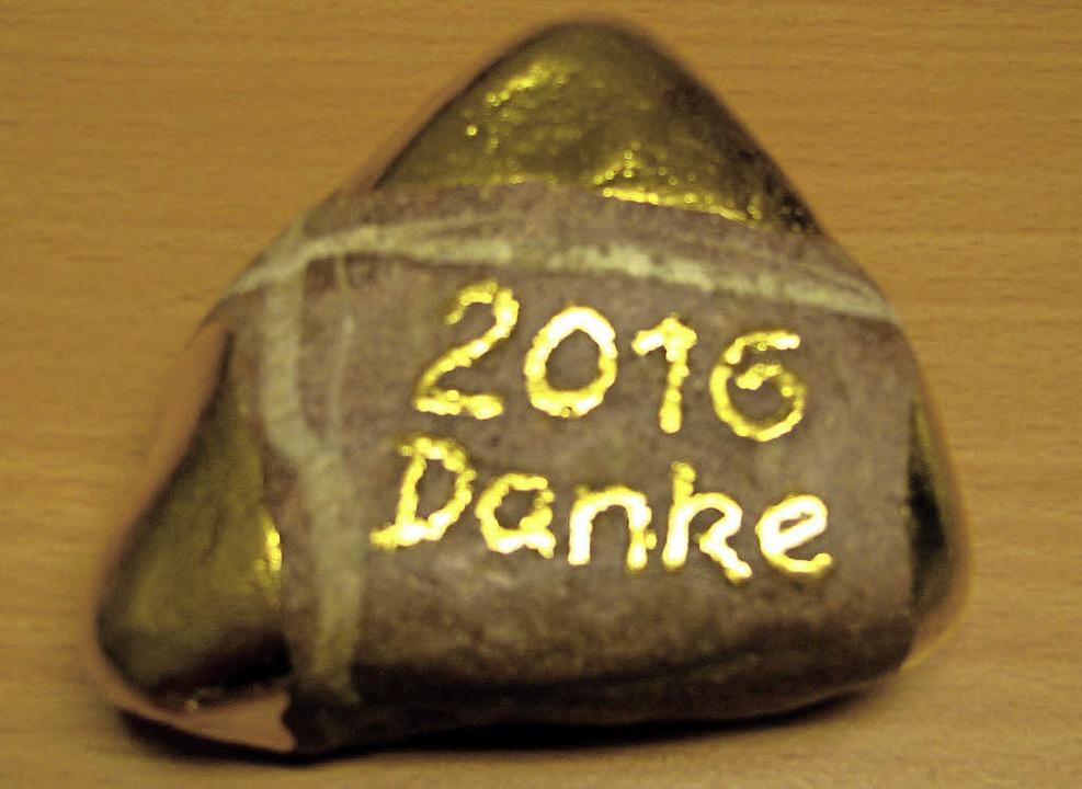 Ein Rhein(gold)kiesel     Foto: Lange