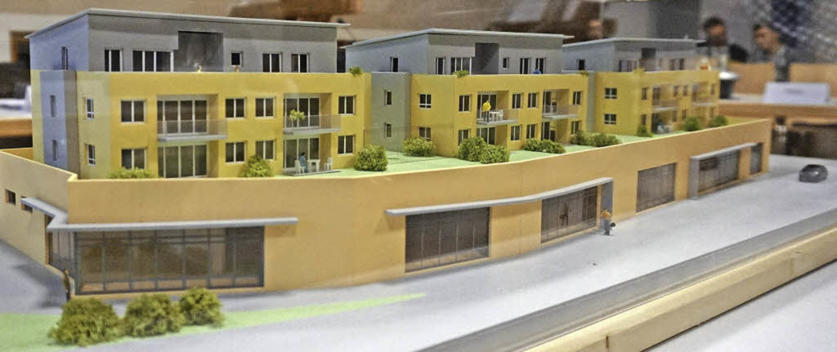 Bis jetzt nur ein Modell für die Bebau...Gemeinderat noch nicht überzeugt hat.     Foto: Julius Steckmeister