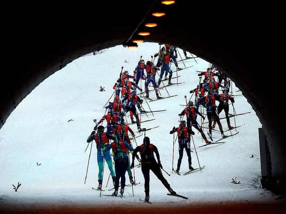 Im Dopingtunnel scheinen sich viele ru...leich ob Langläufer oder Biathleten.    | Foto: AFP