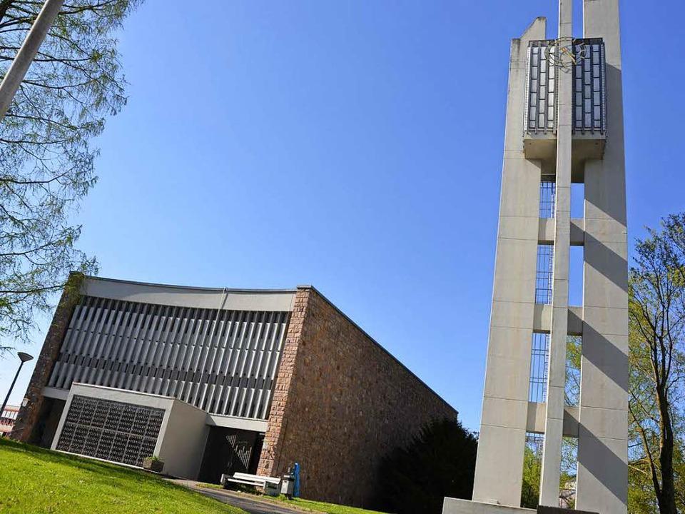Der Notausgang der Kirche Heilig Kreuz...d Säckingen wurde mutwillig beschädigt  | Foto: Hrvoje Miloslavic
