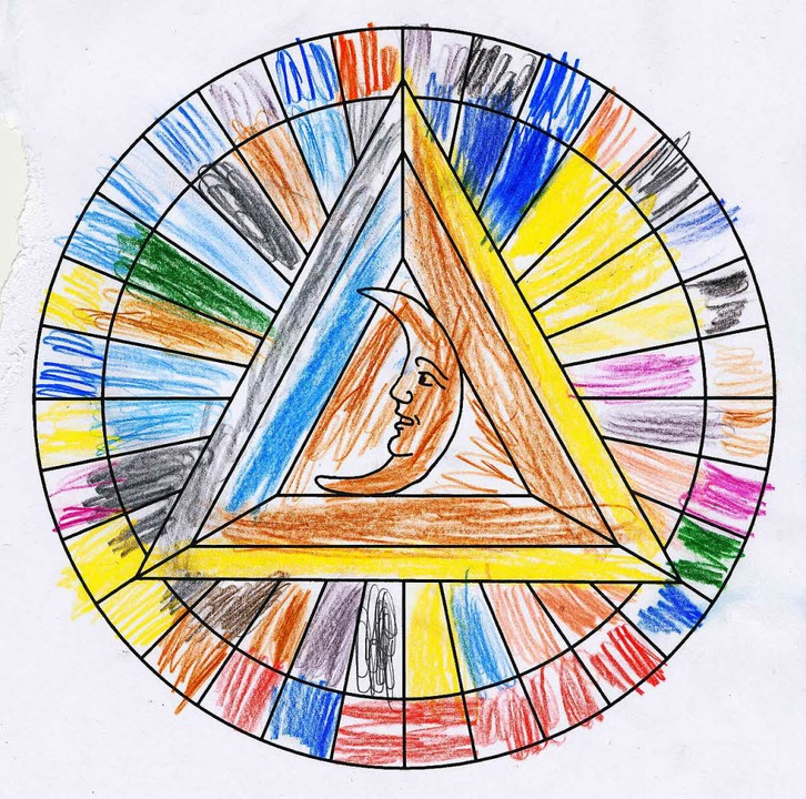 … und ein eifriger Mandala-Maler.  | Foto: Sabine Model