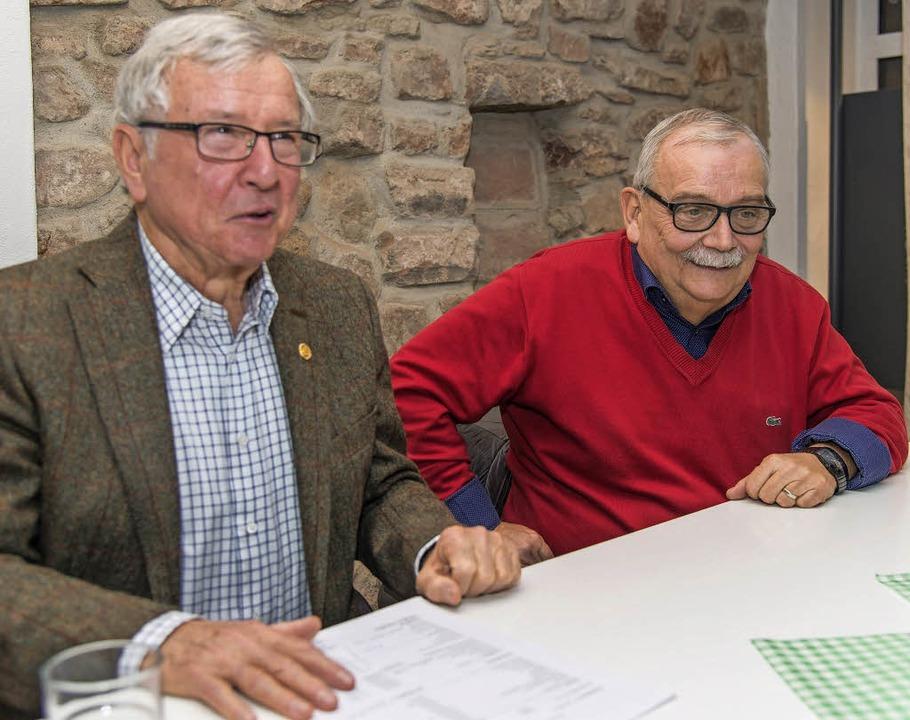 Sichern die Finanzen des Musiksommers: Eugen Weber (links) und Paul Jensen  | Foto: Olaf Michel