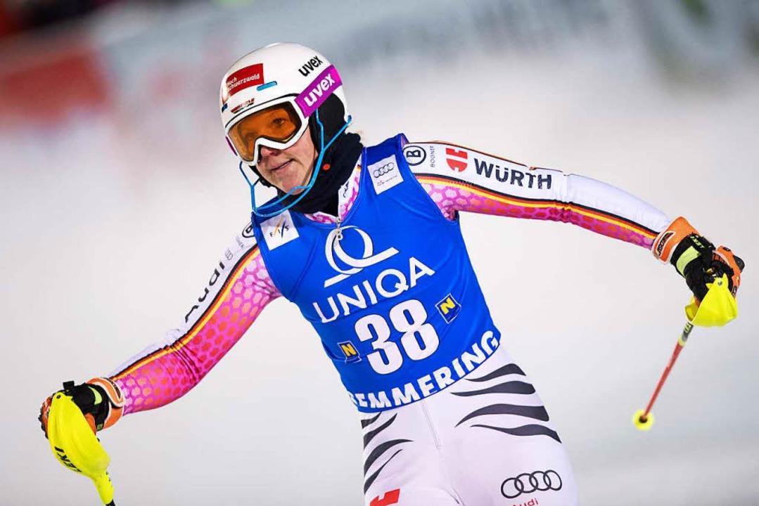 War trotz Rang 17. nicht richtig zufri...chwarzwälderin im alpinen Ski-Weltcup.  | Foto: dpa