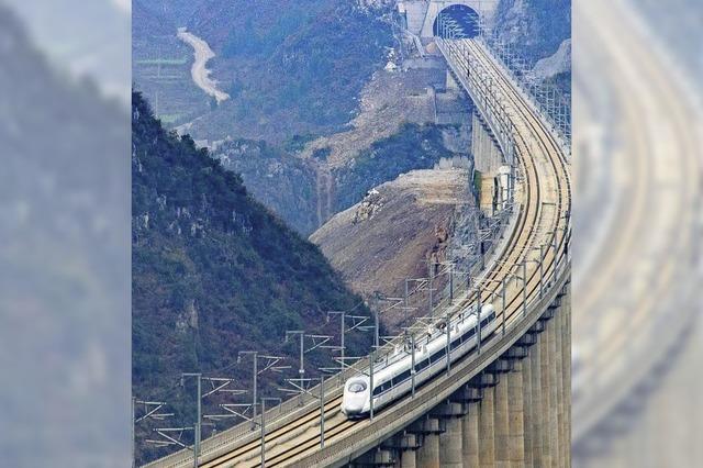 China steckt viel Geld in das Zugnetz