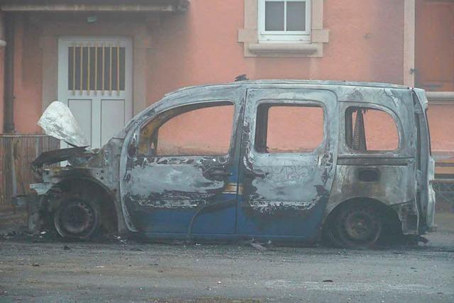 Streifenwagen der Gendarmerie in Neuf-Brisach angezündet