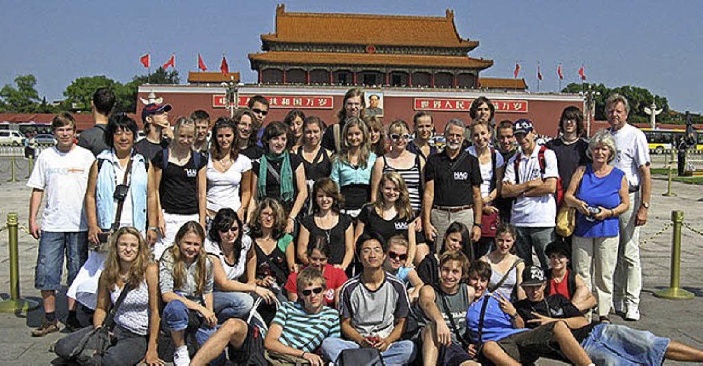 Ebenfalls 2007, im September, reiste e...ed Sturm (Achter von rechts, stehend).  | Foto: privat
