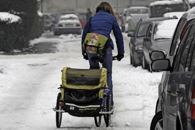 Fahrrad-Pendlerrouten werden im Winter wie Autostraßen geräumt