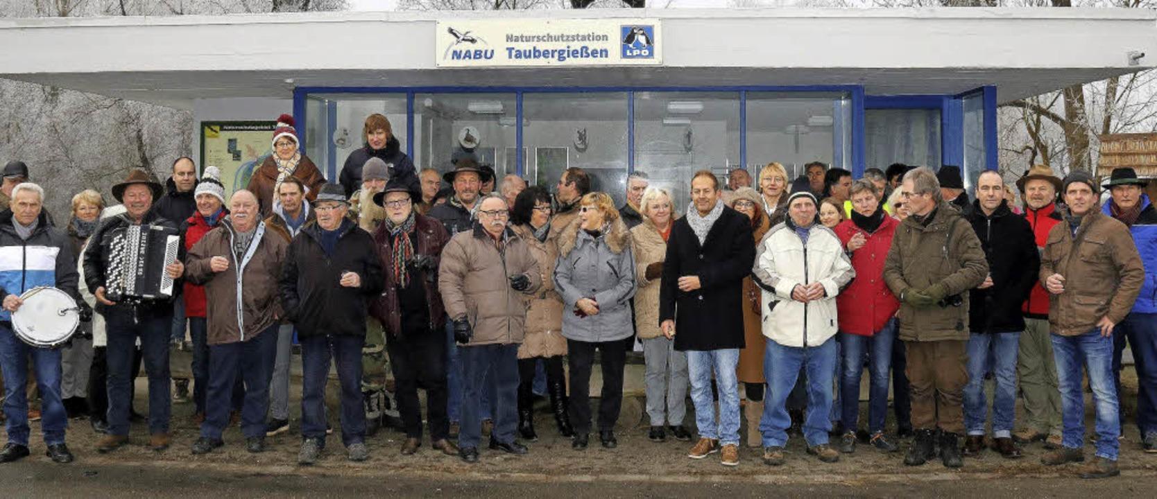 Gemeinsam gedachten Deutsche und Franz...appeler Taubergießen, Arsène Schnepf.     Foto: Herbert Birkle