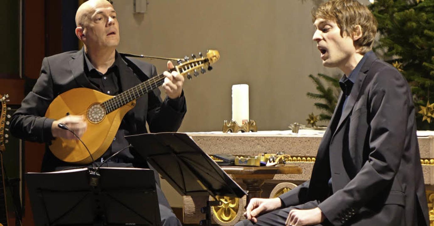 Sänger Jan Börner und der Multiinstrumentalist Christoph Greuter     Foto: Roswitha Frey