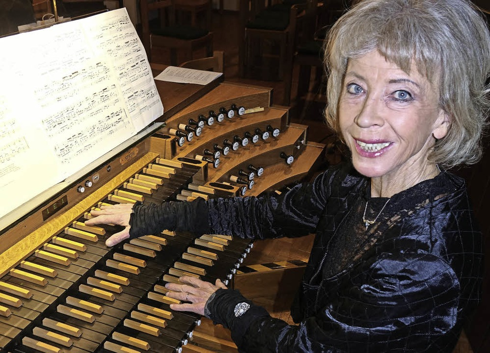 Organistin Irmtraud Tarr    Foto: Roswitha Frey