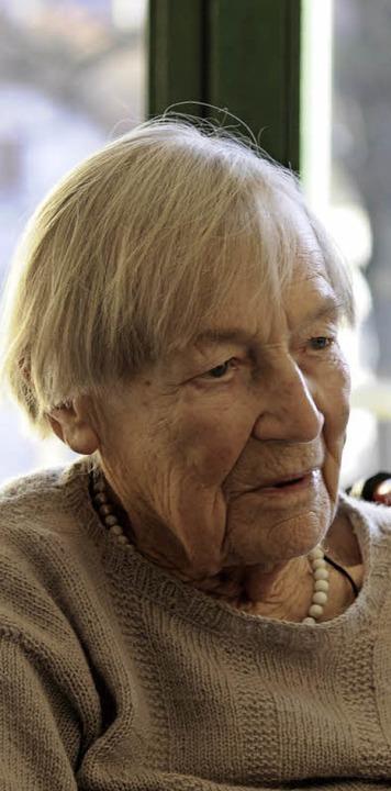 Rosalie Mucha - Burtik im Alter von 100 Jahren.  | Foto: Hermann Kurz