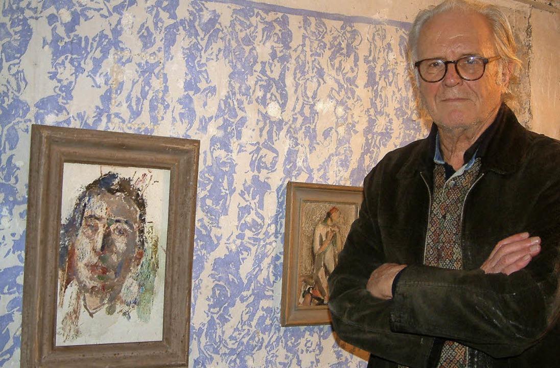 Der Kanderner Galerist Robert Keller, ...sante Ausstellungsprojekte in Planung.    Foto: Roswitha Frey