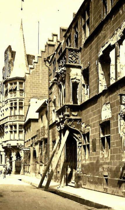Nur durch das schnelle Abstützen des E...er 1944 konnte dieser erhalten werden.  | Foto: Archiv Hans Sigmund