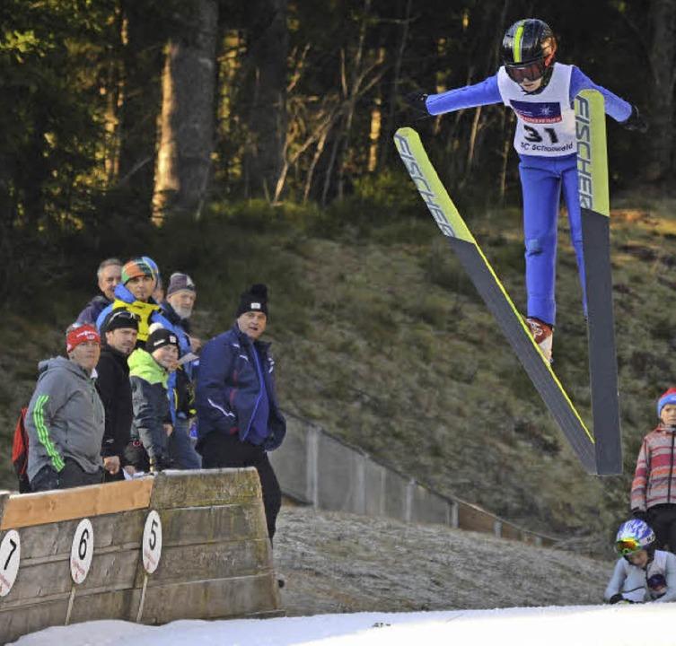 Nachwuchsweitenjäger: Mika Ketterer von der SZ Breitnau   | Foto: junkel