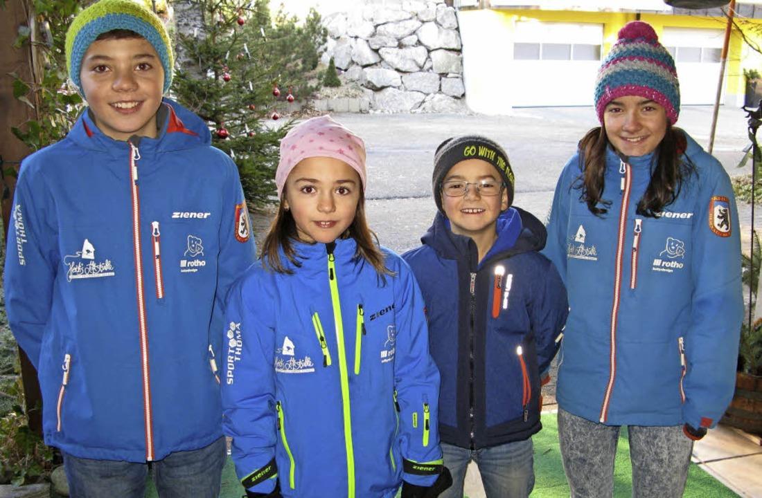 Als Neujahrssänger wünschen die Kinder...leine Gabe der so besuchten Nachbarn.     Foto: Ulrike Spiegelhalter