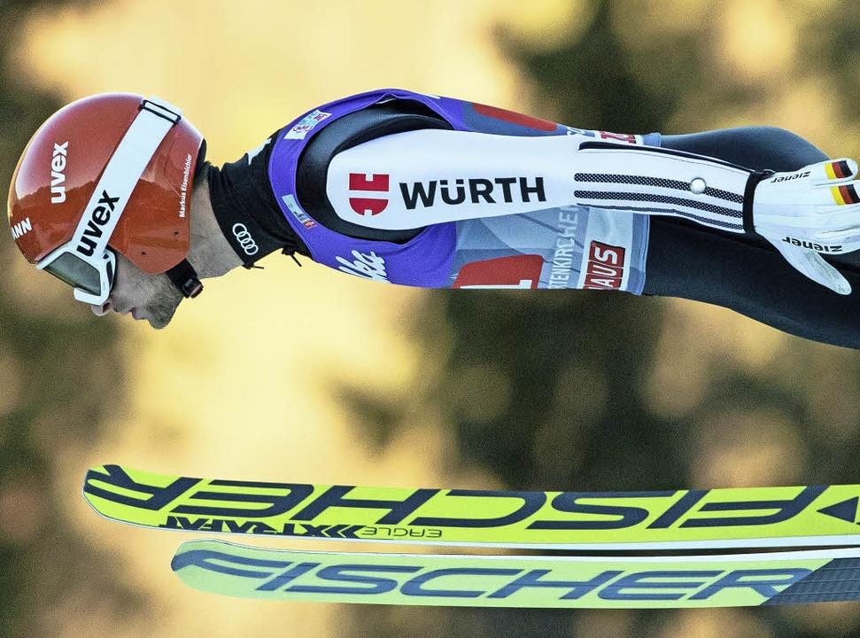 Deutschlands aktueller Top-Weitenjäger: Markus Eisenbichler   | Foto: dpa