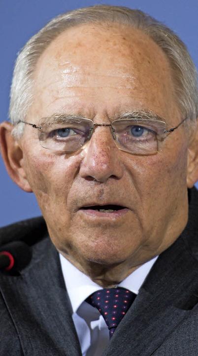 Schäuble    Foto: dpa