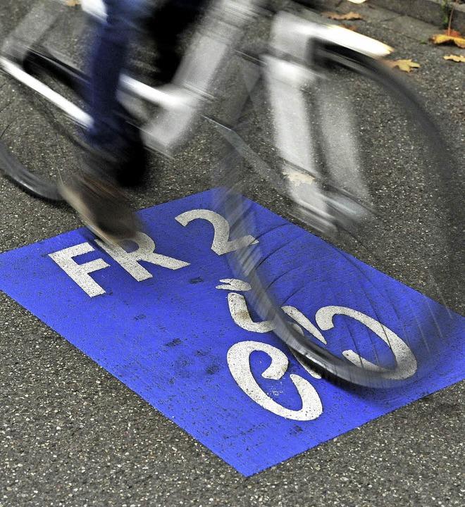 Radschnellweg in Freiburg, Muster für das Land  | Foto: Kunz