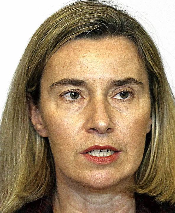 Twitterte ihr Beileid: EU-Außenbeauftragte  Mogherini     Foto: AFP