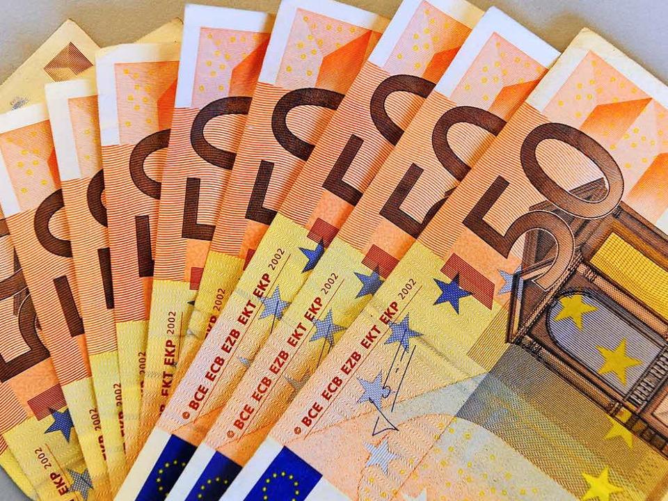 Ein Haufen Geld.  | Foto: Ingo Schneider