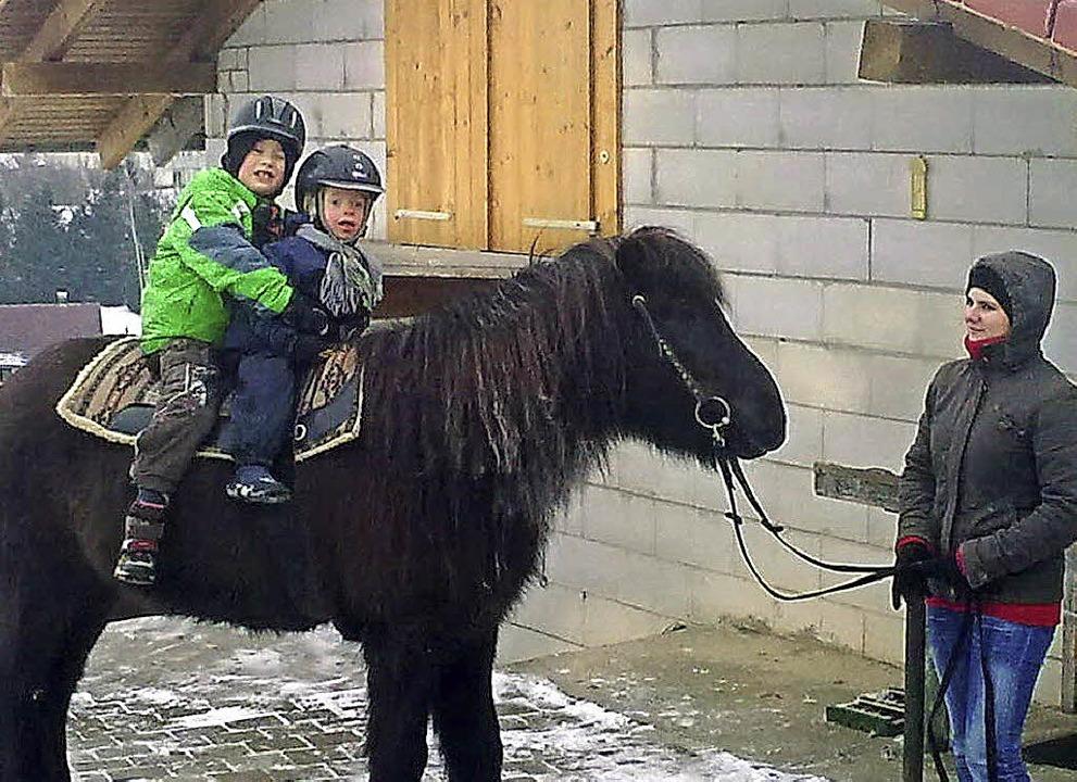 Die  Begegnung mit Pferden tut den Kindern gut.     | Foto: Förderverein