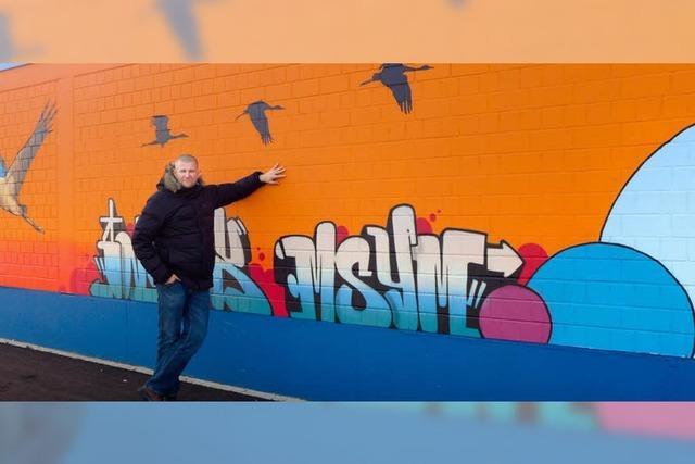 Graffiti-Kunst für die Bahnhofsunterführung