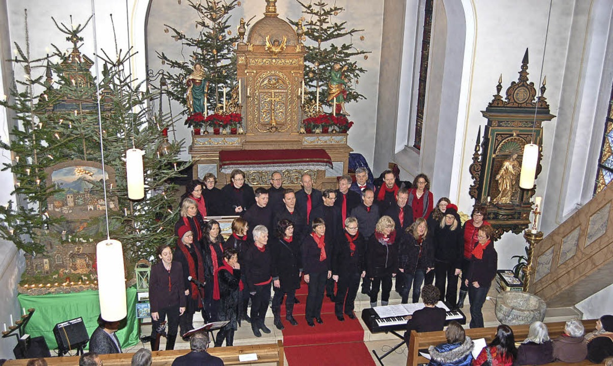 Die Arion Singers beim Friedensgebet in Mariä Heimsuchung Suggental.   | Foto: Christian Ringwald