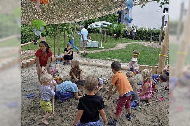 Geschäftiges Treiben im Waldorfkindergarten