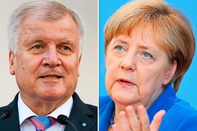 Unionspolitiker rufen Merkel und Seehofer zu Ende ihres Streits auf
