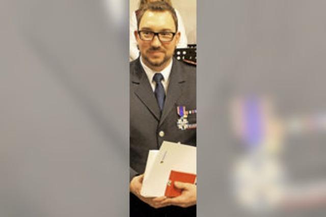 Ehrenkreuz in Silber für Kommandant Rebholz