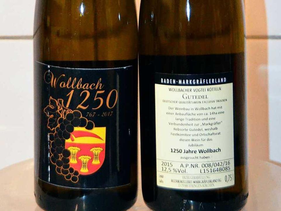 Der Wollbacher Jubiläumswein.  | Foto: M. Maier