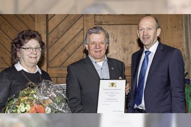 Bernhard Heer erhält Ehrennadel des Landes