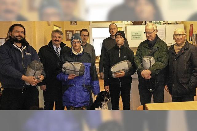 Schlafsäcke für Obdachlose