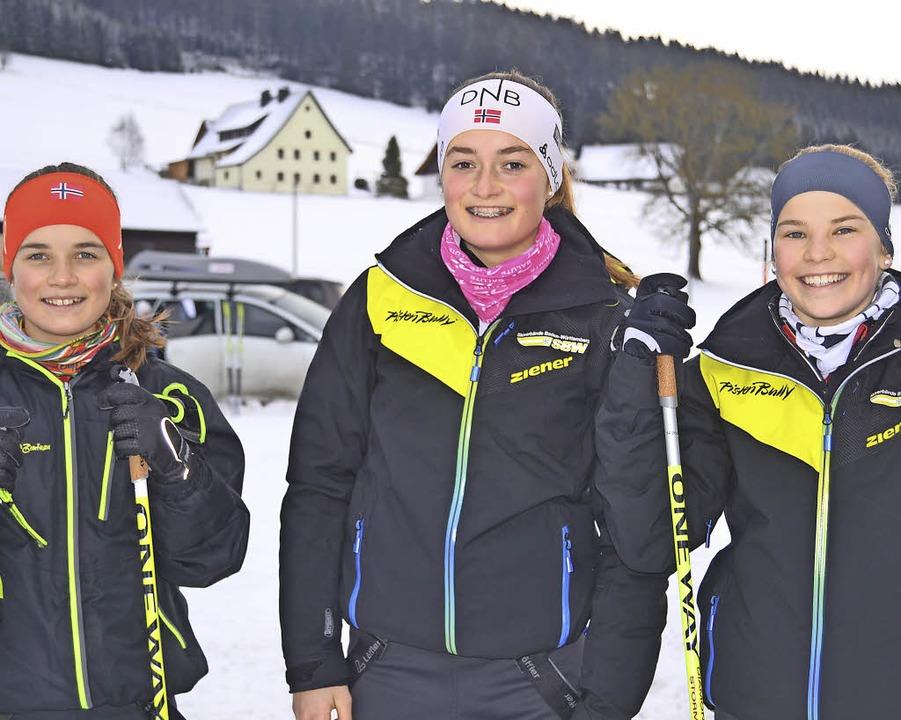 Bezirksmeister bei den Schülerinnen: d...a Klimpel (rechts) und Vanessa Hensler  | Foto: Helmut Junkel