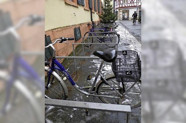 Mehr Bügel für Fahrräder