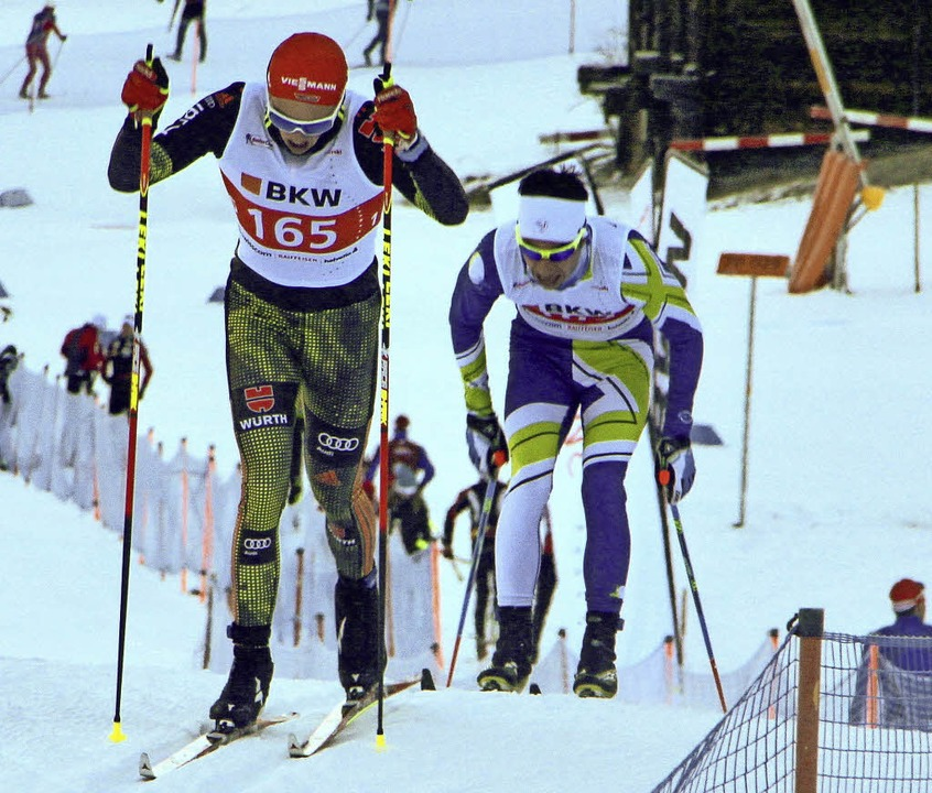 Seit fünf Rennen ungeschlagen ist derz...ger (vorne) auf internationaler Ebene.  | Foto: Erhard Goller